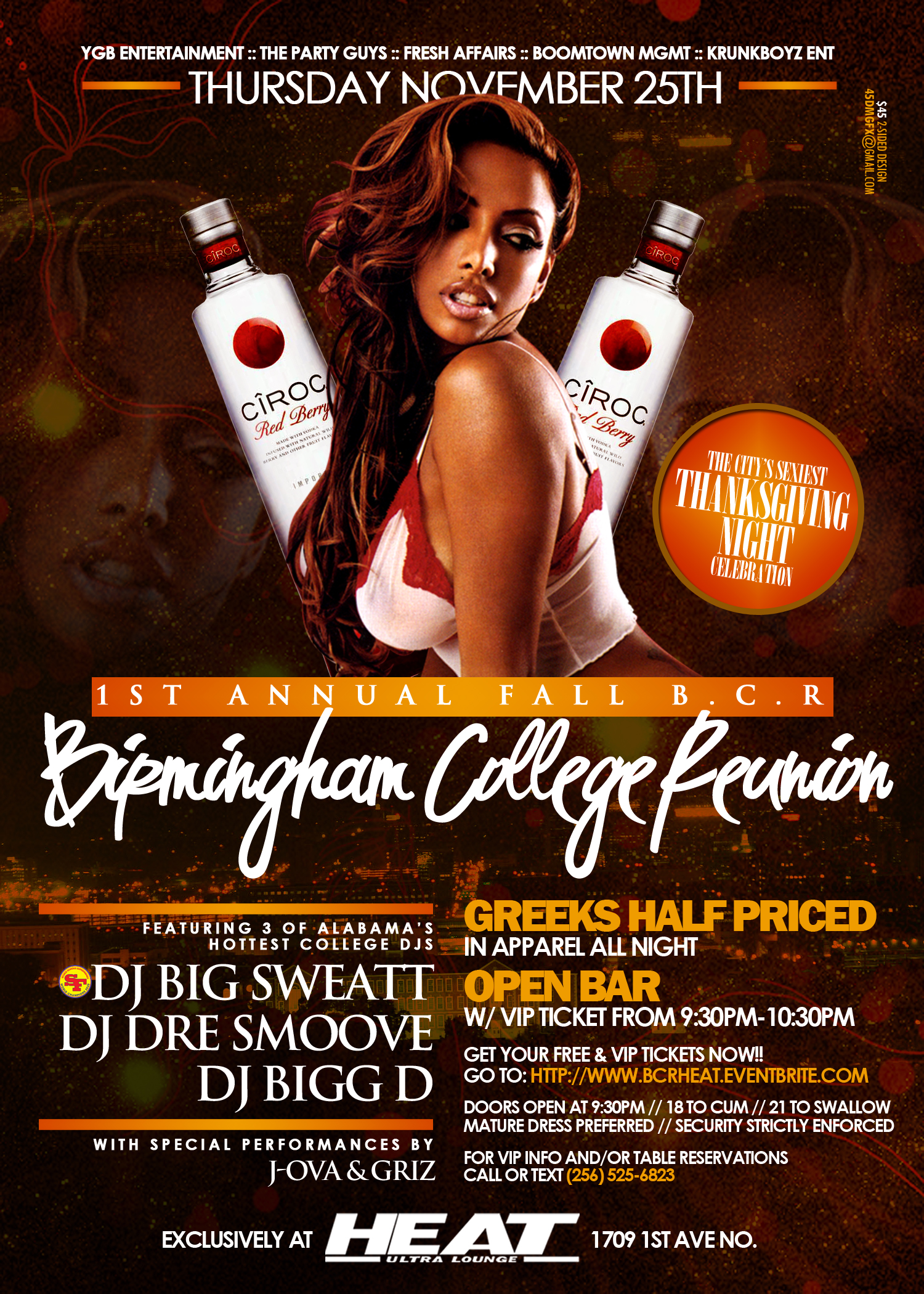 Birmingham College Reunion Flyer